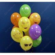Шарики воздушные с веселыми улыбками