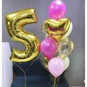 Букет из шаров на 5 лет