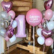 """Фонтаны из шаров на годик девочке """"День принцессы"""""""