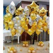 Фонтаны из шаров золото