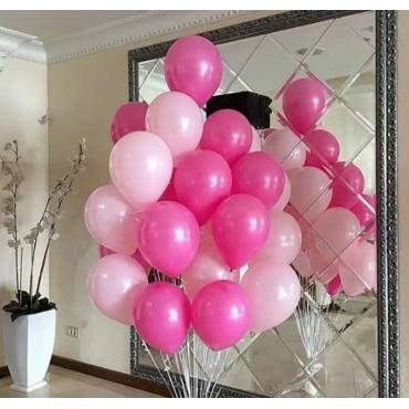Букет из розовых шариков разного оттенка