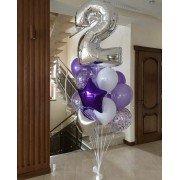 Фонтан из шаров с цифрой на День Рождения