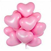 Облако шаров сердца розовые