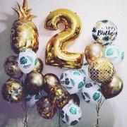 Оформление воздушными шарами на 2 года для девочки на День Рождения