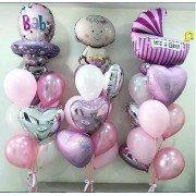"""Комплект шаров для девочки """"Здравствуй, дочка"""""""