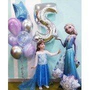 Комплект шаров с Анной и Эльзой на 5 лет
