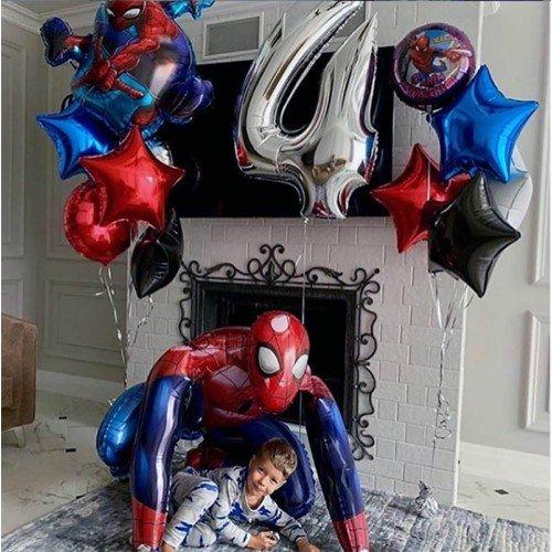Украшение шариками с человеком пауком дня рождения на 4 года
