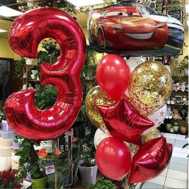 Воздушные шары Тачки на три года
