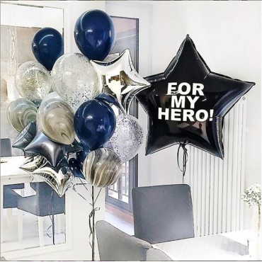 Украшение воздушными шарами для мужчины на День Рождения