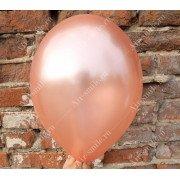 Шарик металлик цвета розовое золото (091)