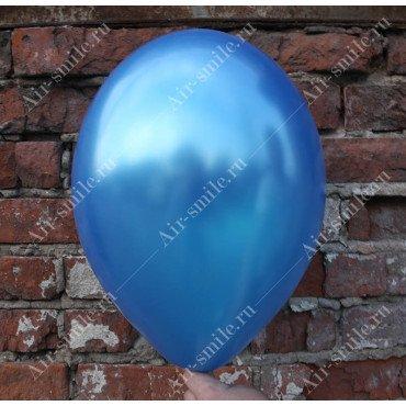Шарик синий оттенка металлик