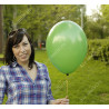 Матовый шарик темно зеленого цвета