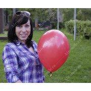 Матовый шарик красного цвета (101)