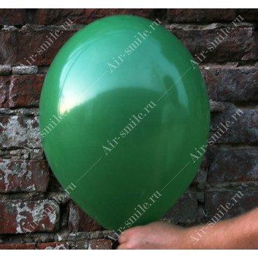 Шарик матовый тёмно зелёного цвета