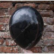 Матовый черный шарик (025)