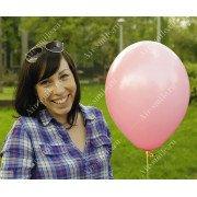 Матовый розовый шарик (004)