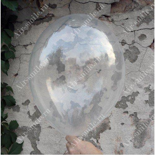 Прозрачный бесцветный шарик