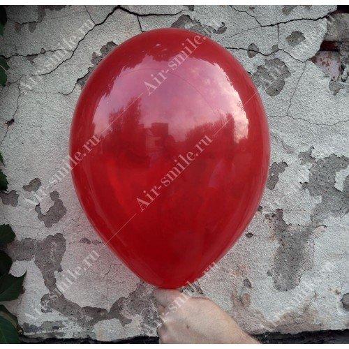 Прозрачный шарик красного оттенка
