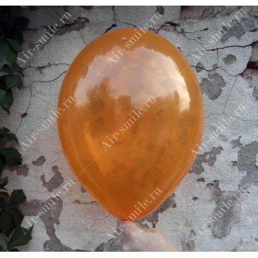 Прозрачный шарик оранжевого оттенка
