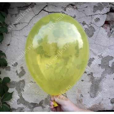 Прозрачный шарик жёлтого цвета