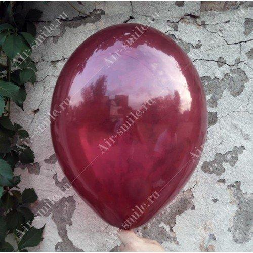 Прозрачный шарик цвета бургундия
