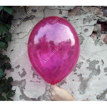 Прозрачный шарик розового цвета
