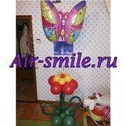 "Фигура из шаров ""Бабочка и цветок"""