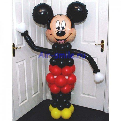 Фигура из шаров приветливый Микки Маус