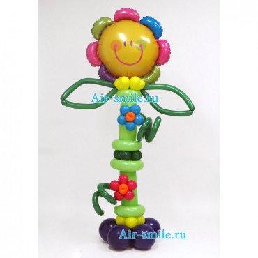 Фигура из шаров разноцветный цветок
