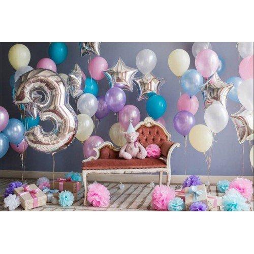 Фотозона из шариковна первый день рождение