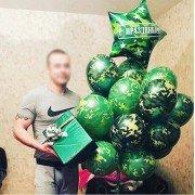 """Шарики на 23 февраля """"Моему защитнику"""""""