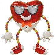 Ходячий шар сердечко в очках