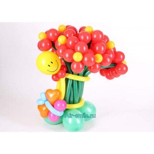Цветы из шаров на 14 февраля