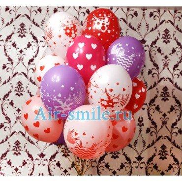 Микс из шаров для влюблённых