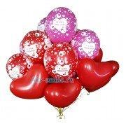 """Микс сердца и шарики """"Я тебя люблю"""" для влюбленных"""