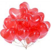 Красные сердца