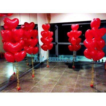 Фонтан красные сердца для влюбленных