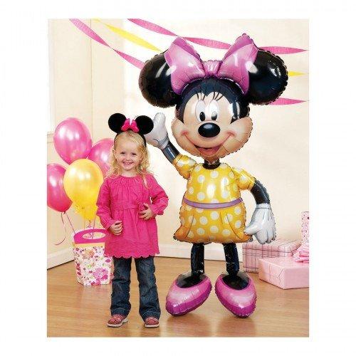 Ходячий шар Минни Маус с розовым бантом