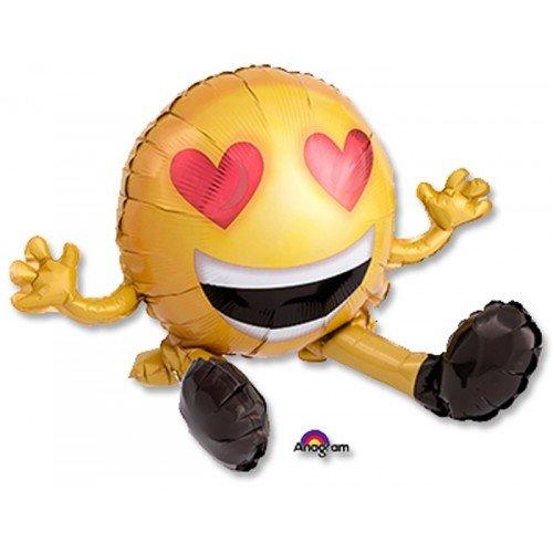 Влюбленный смайлик шарик на 14 февраля