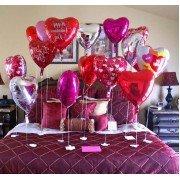 Украшение шарами сердцами на день всех влюбленных