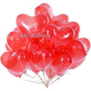 Гелиевые красные сердца