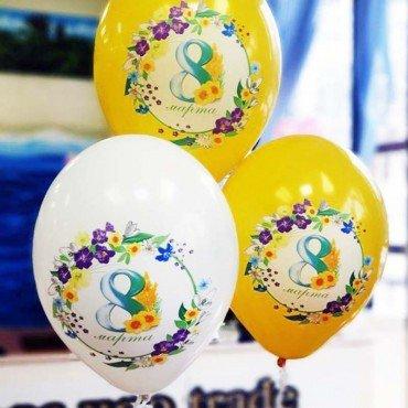 Воздушные шары на 8 марта с рисунками