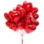 Фольгированные красные сердца на 8 марта 20 шт.