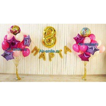 Оформление на 8 марта воздушными шарами