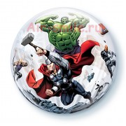"Шар П BUBBLE 22"" Marvel Мстители"