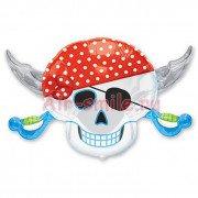 Шар фигура Череп пирата с саблями