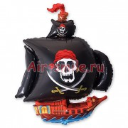 Шар фигура Черная шхуна Пирата