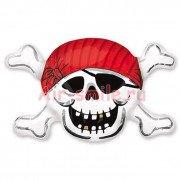 Шар фигура Череп пирата в бандане