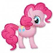 Шар фигура Пони розовая