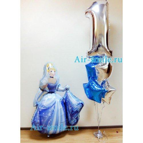 Украшение шариками на 1 год с принцессой
